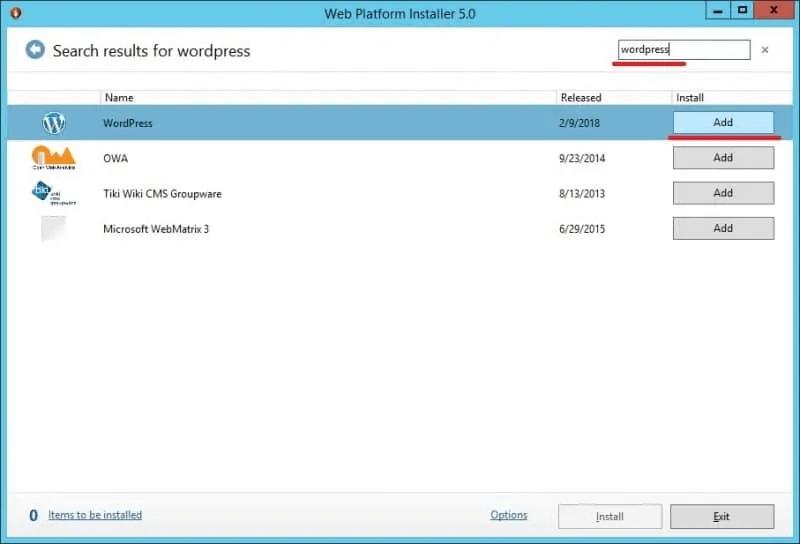 如何在Windows服务器上运行 WordPress