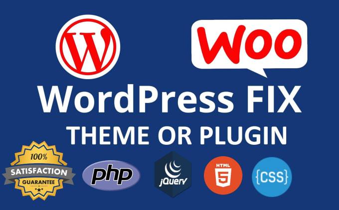 fiverr推广:我将编码或修复 wordpress php html css jquery js 插件主题