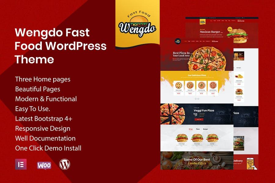 Wengdo - 一款餐饮饮食行业WordPress主题