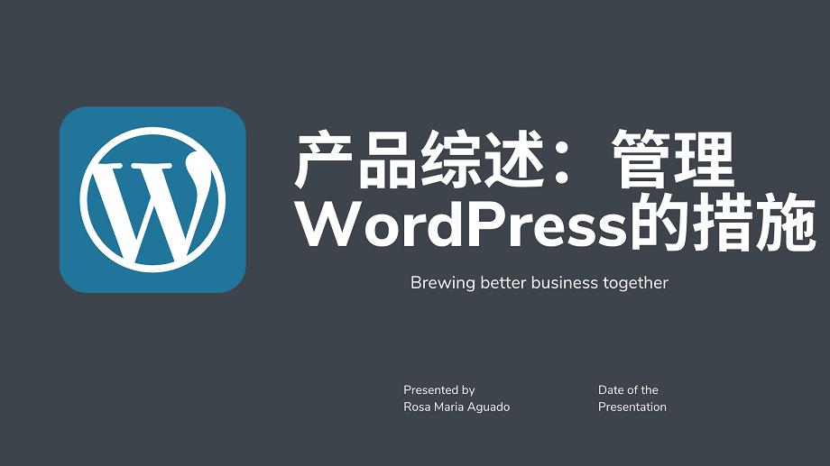 产品综述:管理 WordPress的措施