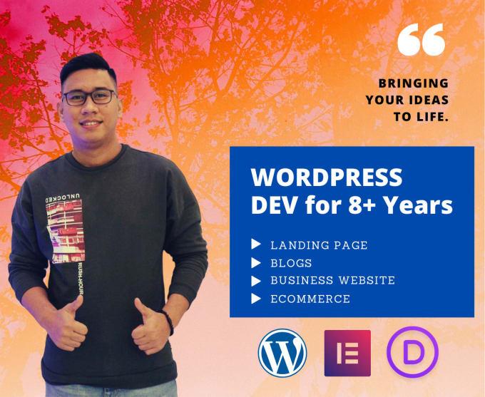 fiverr赚钱:我将设计一个专业且响应迅速的商业wordpress网站