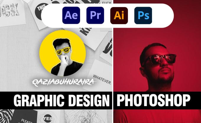 fiverr推广:我会做任何平面设计或 Adobe Photoshop 工作