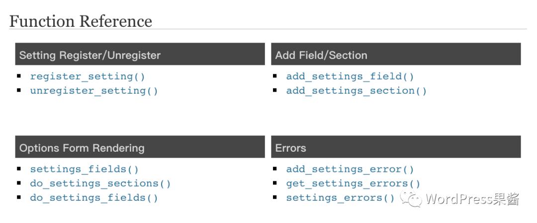 一个函数就搞定 WordPress设置页面开发