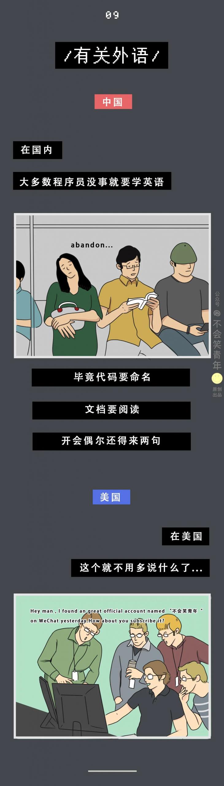 中国程序员VS美国程序员,这也太形象了吧...