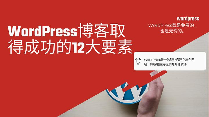 WordPress博客取得成功的12大要素